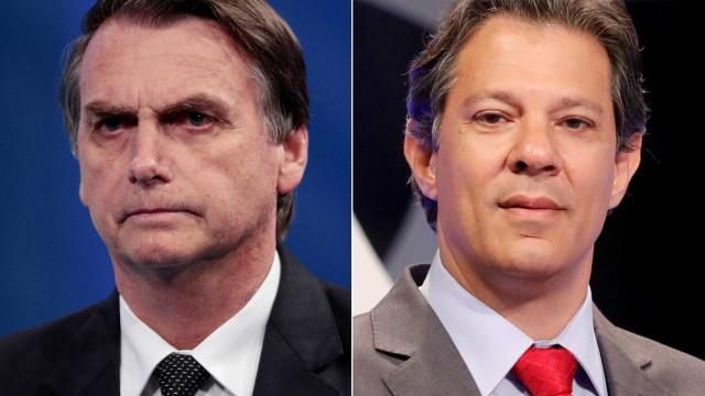Padres racham entre Jair Bolsonaro e Fernando Haddad