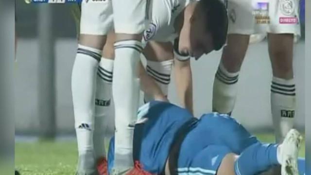 Filho de Zidane cai e bate a cabeça no gramado; vídeo