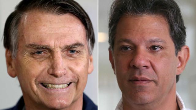 Ibope: Em SP, Bolsonaro chega a 63% dos votos válidos e Haddad tem 37%