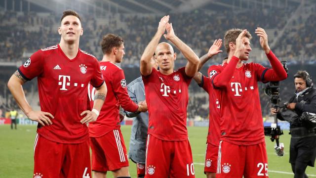 Bayern vence o AEK e se garante no topo de grupo na Liga dos Campeões