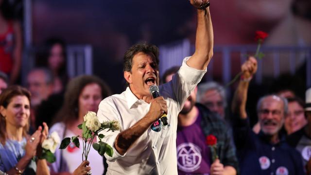 Haddad diz que Bolsonaro 'treme' com sua subida nas pesquisas