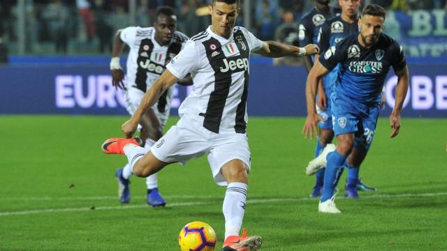 Com dois de Cristiano Ronaldo, Juventus vence o Empoli e evita a zebra