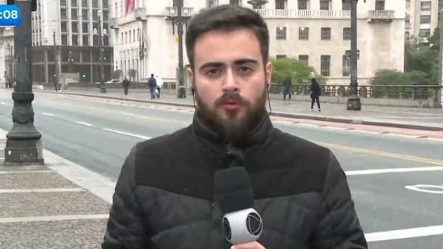 Repórter da Record tem crise de estresse e fica só 26 segundos no ar