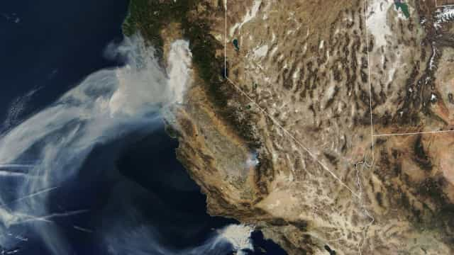 Nasa mostra incêndios na Califórnia vistos do espaço