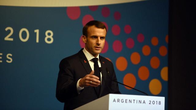 'Querem o caos', diz Macron sobre atos de violência em Paris