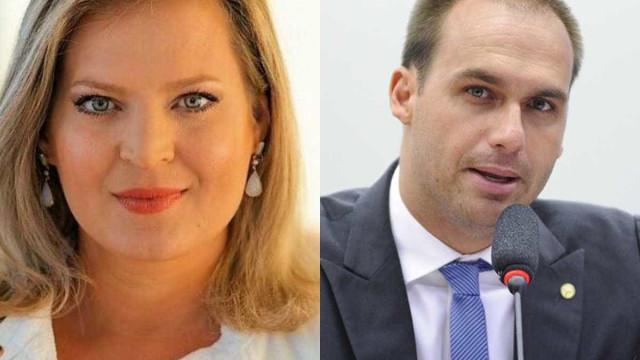 Eduardo Bolsonaro e Joice Hasselmann batem boca no WhatsApp do PSL