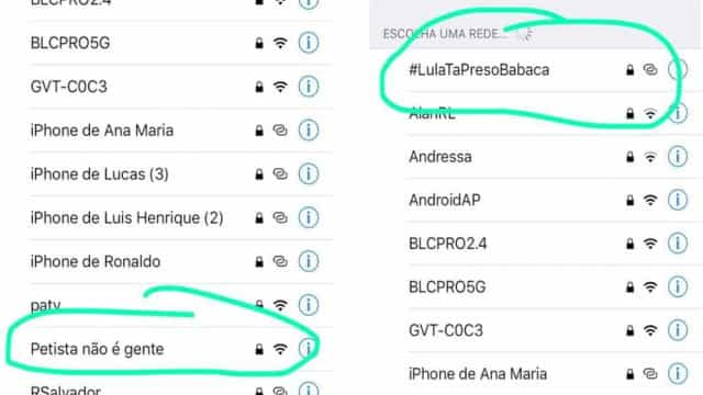Wi-fi de evento de Eduardo Bolsonaro se chama 'Petista não é gente'