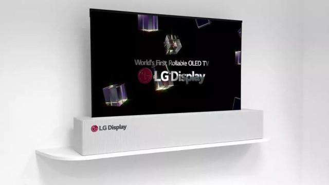 LG vai lançar televisão que pode ser enrolada
