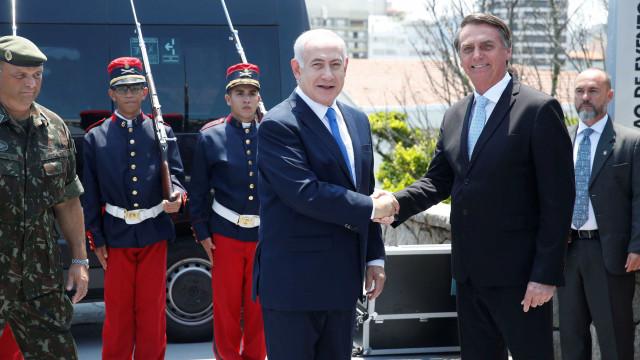 Com segurança reforçada, Bolsonaro recebe premiê de Israel no Rio