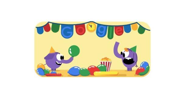 Google está pronto para celebrar o Ano Novo