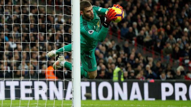 Com De Gea inspirado, Manchester United vence Tottenham no Inglês