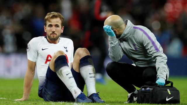 Com lesão no tornozelo, Harry Kane só voltará ao Tottenham em março