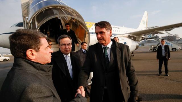 Bolsonaro viajou a Davos no 'AeroLula', alvo da oposição ao PT