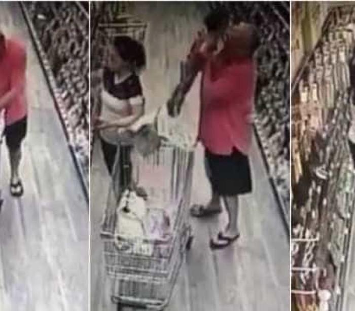 Homem tentar raptar bebê em supermercado