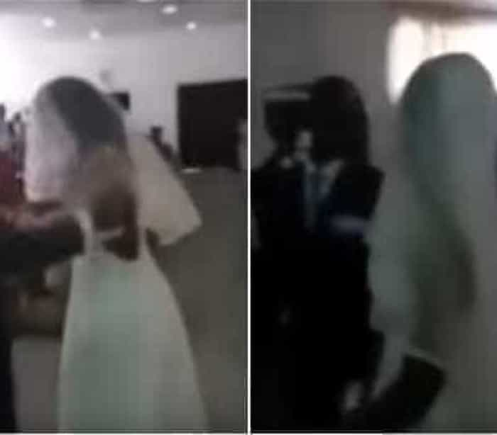 Amante invade casamento vestida de noiva; assista!