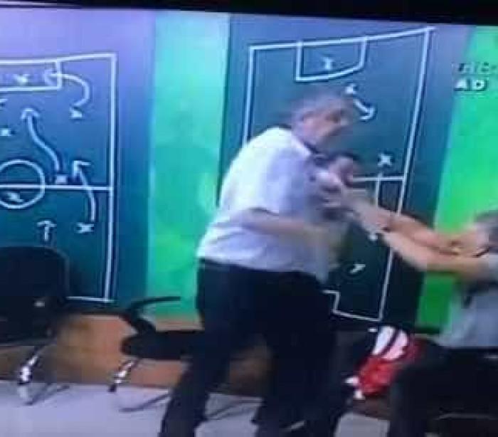 Ex-presidente do Inter e jornalista trocam  socos ao vivo em programa