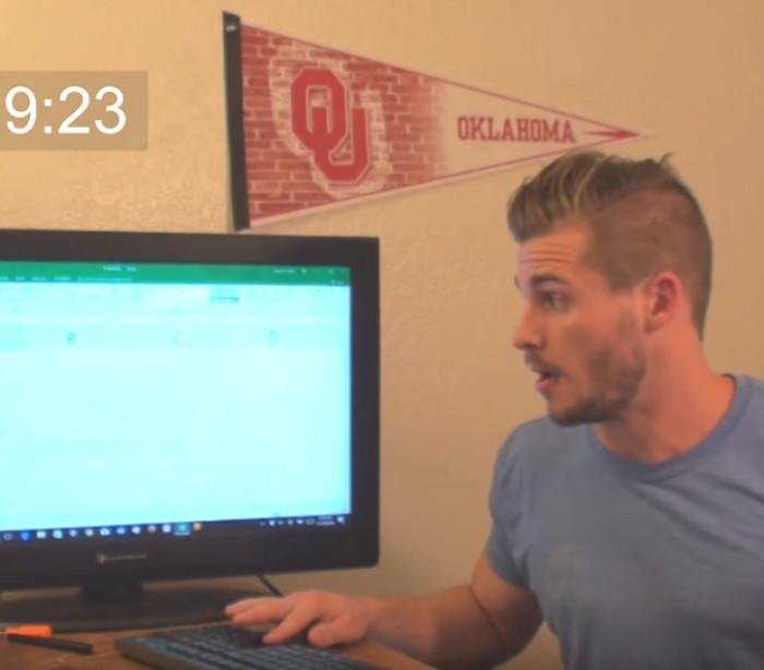 Jovem passa 9 horas pressionando tecla até chegar no 'fim' do Excel