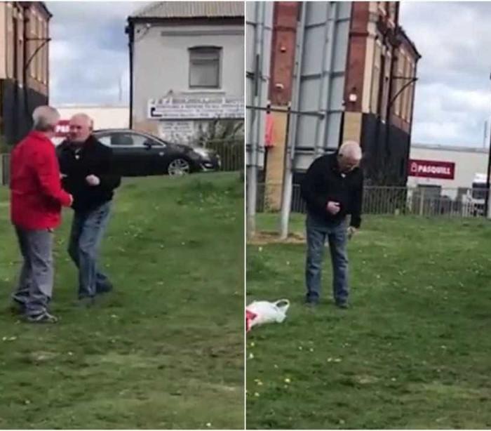 Dois idosos brigam em frente a asilo e acabam à procura dos óculos