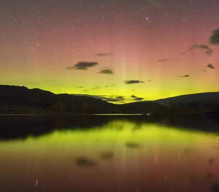 Espetáculo: Aurora Austral colore céu da Nova Zelândia