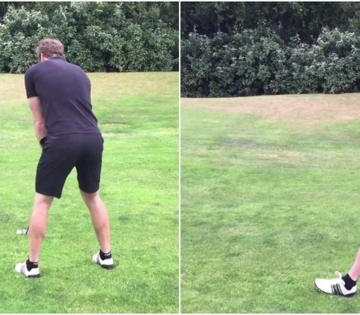 Peter Cech erra tacada no golf e John Terry registra o momento