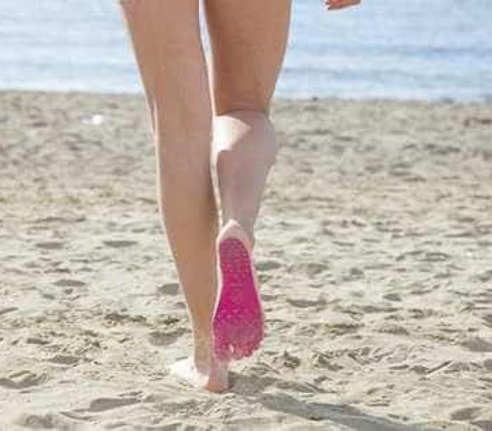 Palmilha promete o prazer de andar descalço  em segurança para os pés