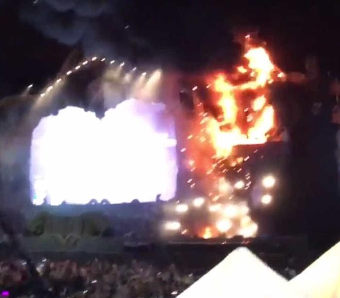 Incêndio encerra festival em Barcelona