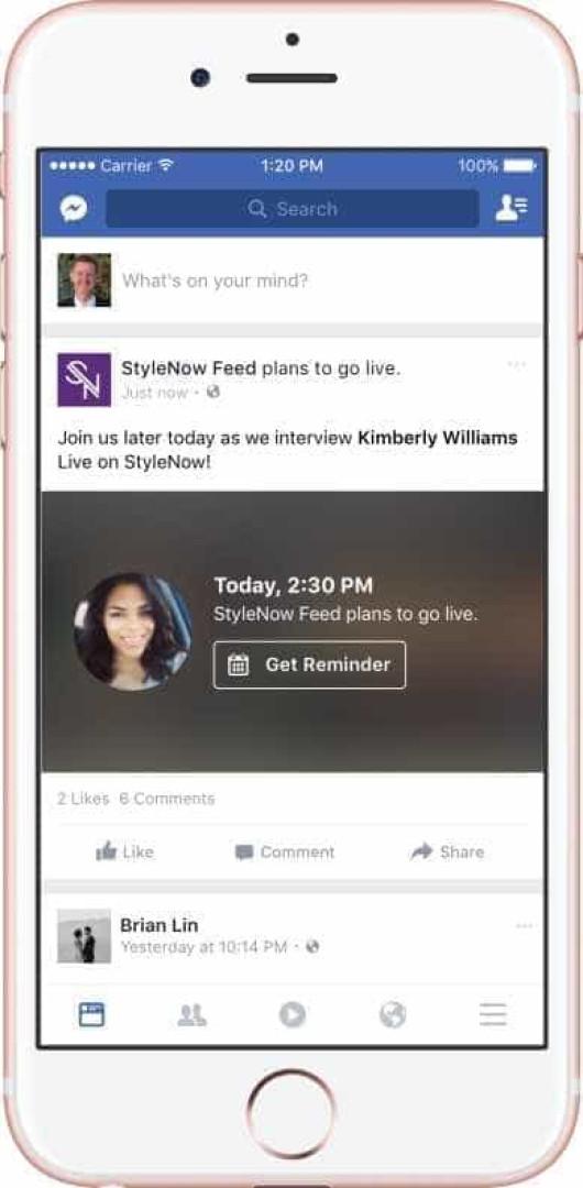 Facebook lança recurso que possibilita programar vídeo ao vivo