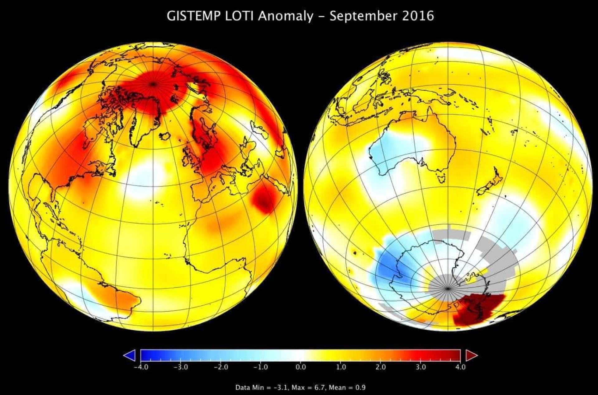 Setembro de 2016 foi o mais quente em 136 anos