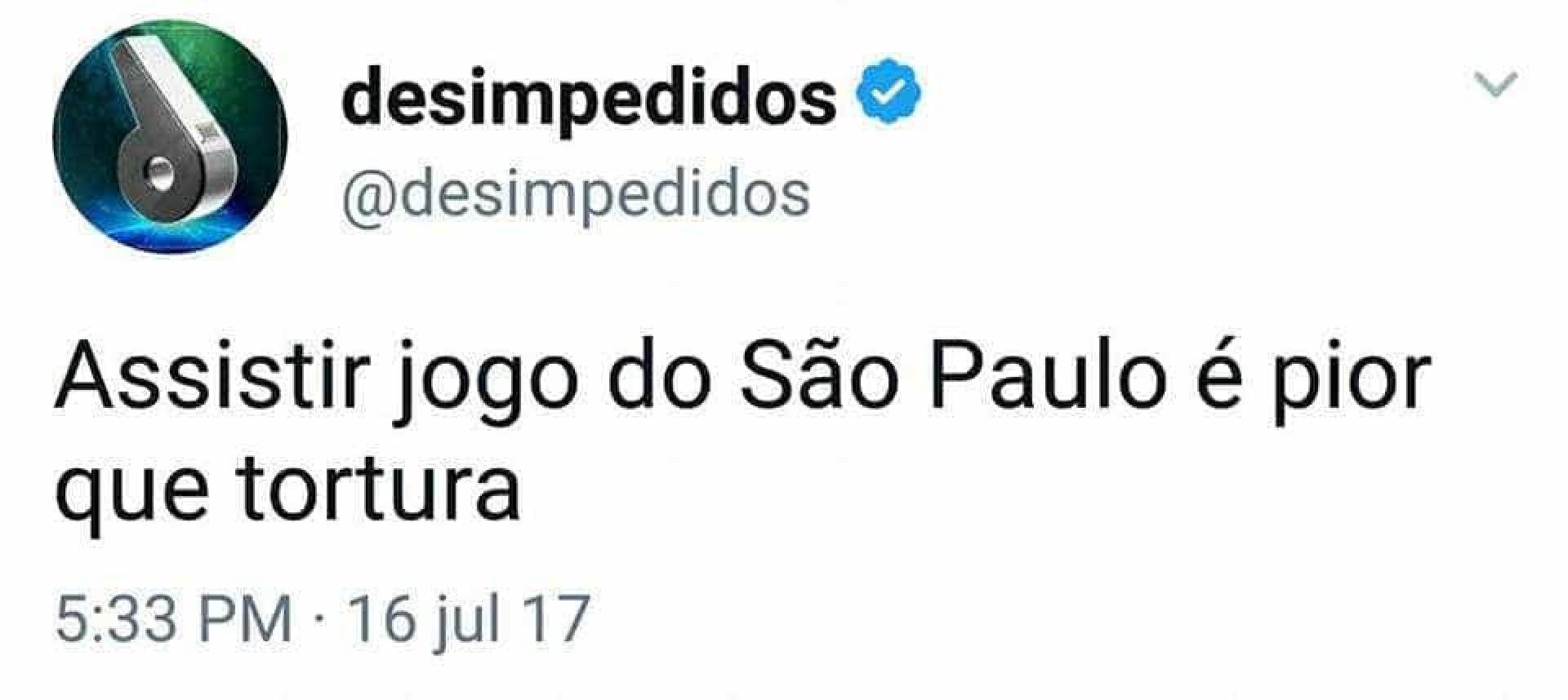 São Paulo vira chacota na internet após derrota para a Chape: 'Série B'