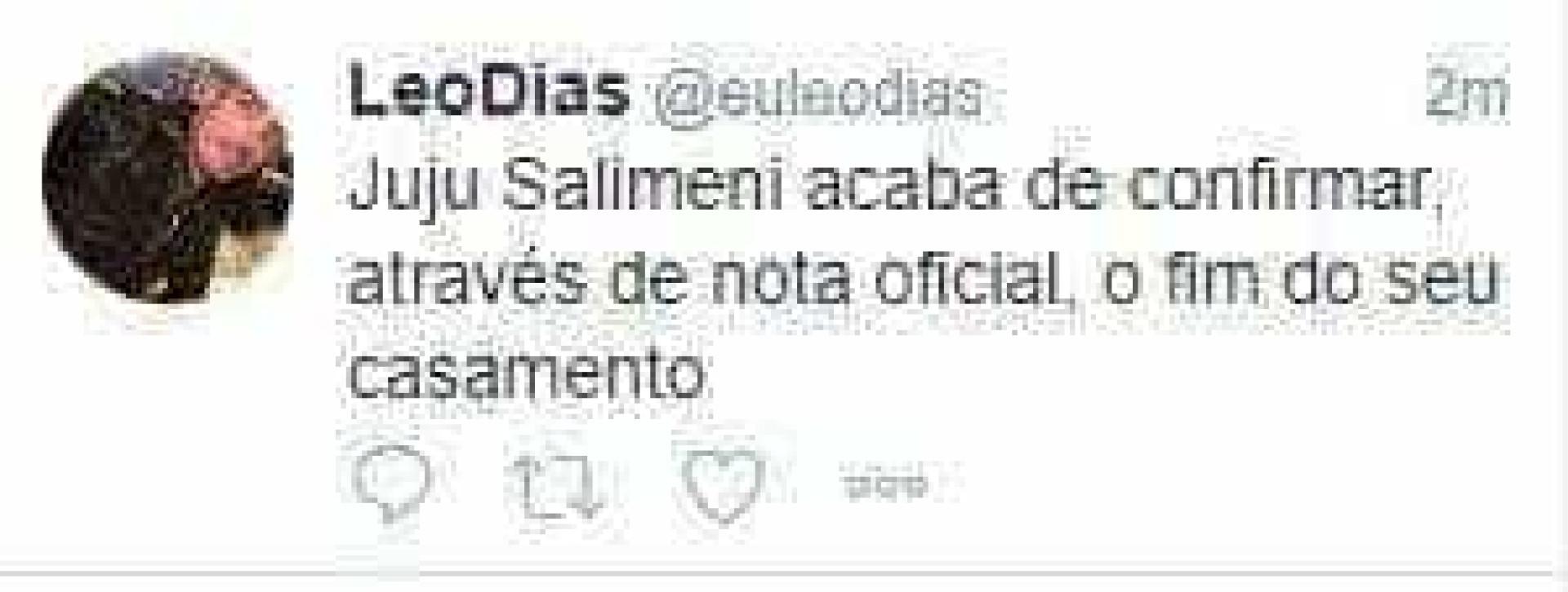 Juju Salimeni confirma separação de Felipe Franco, diz colunista