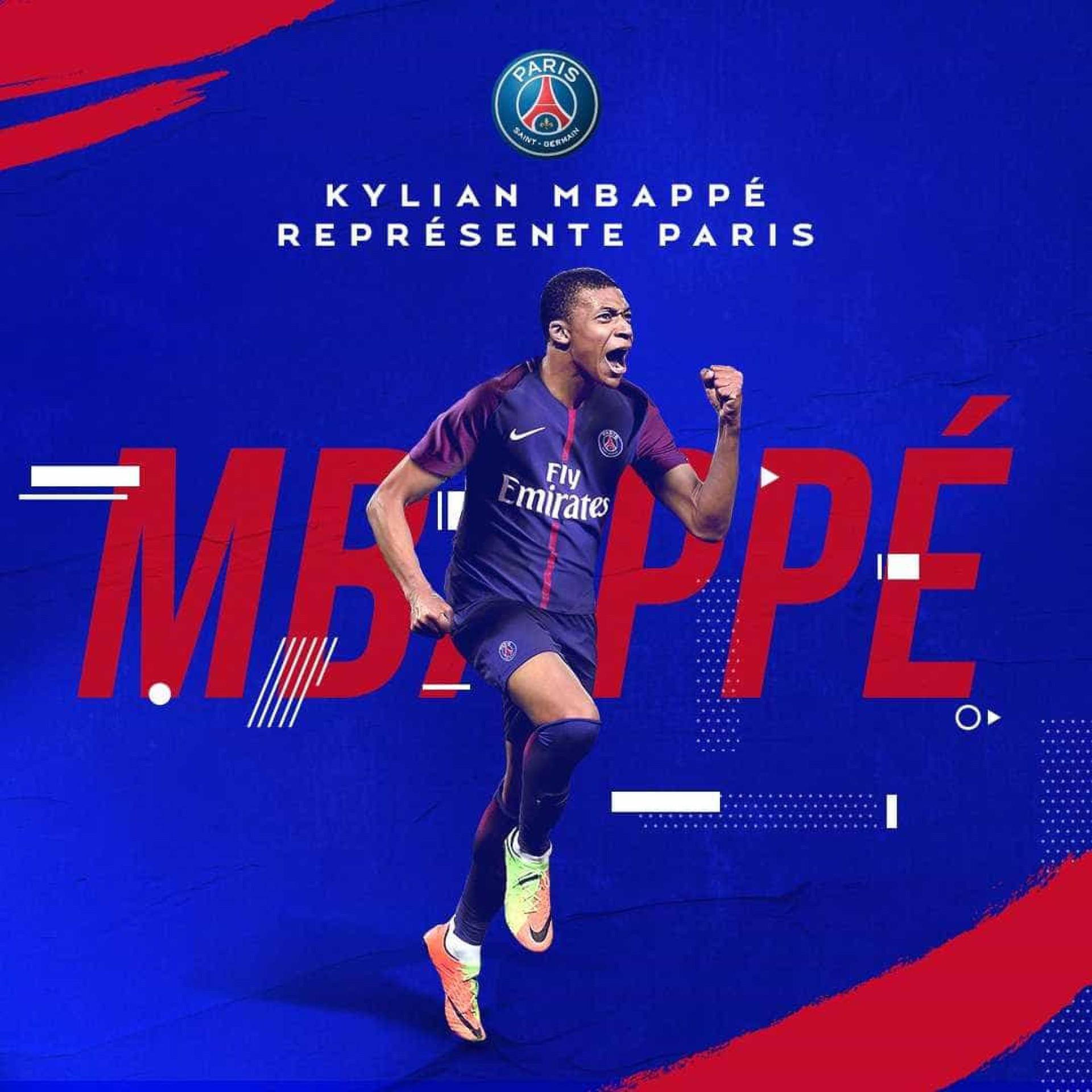 Oficial: Paris Saint-Germain anuncia contratação de Mbappé