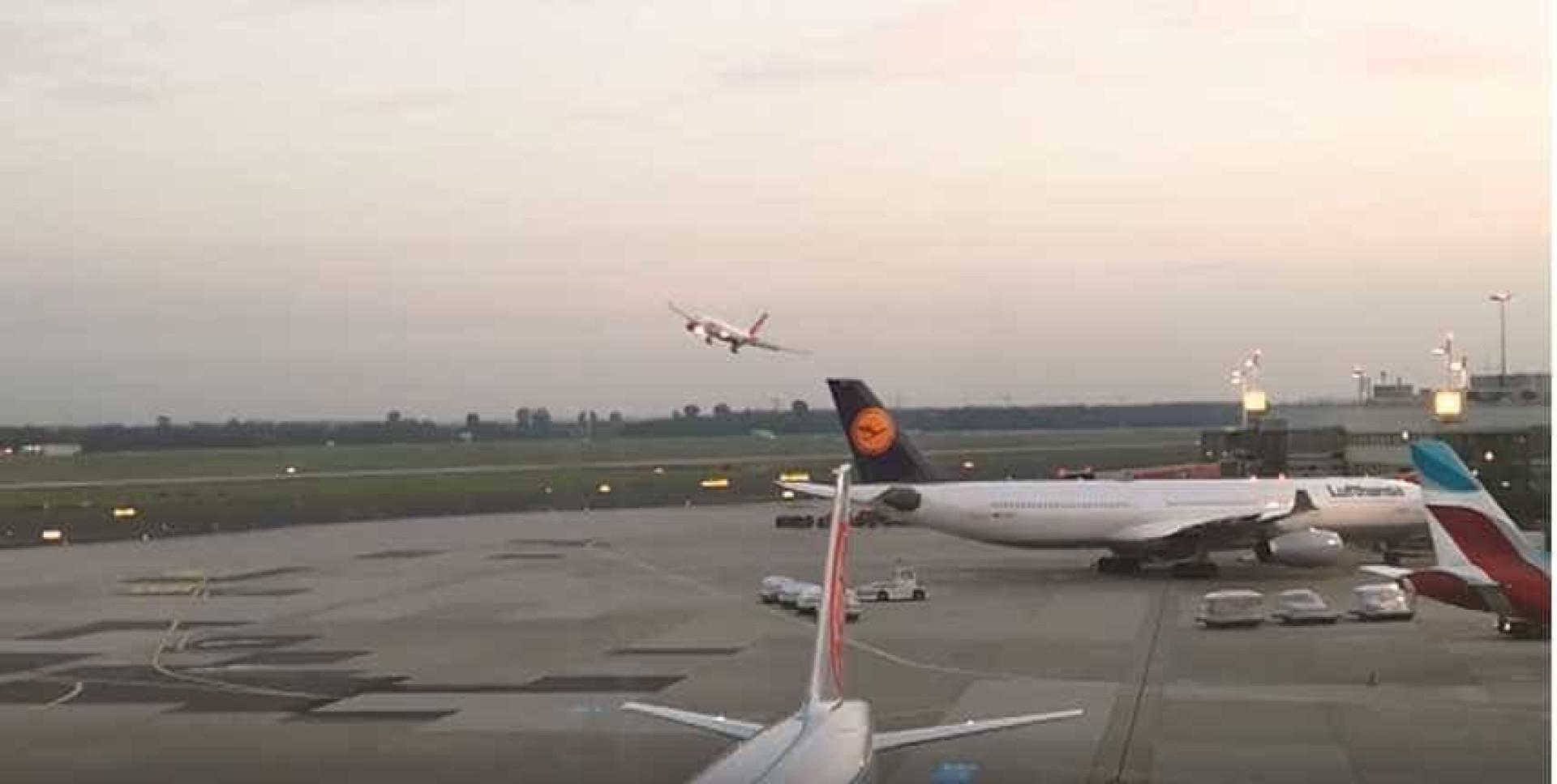 Piloto da Air Berlin é suspenso após manobra arriscada sobre aeroporto