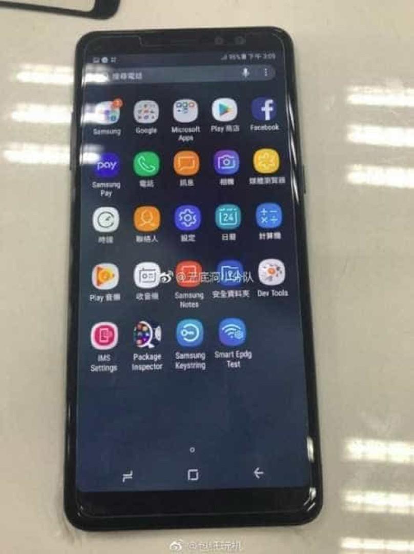 Primeiras fotos do Galaxy A8+ são publicadas em rede social chinesa