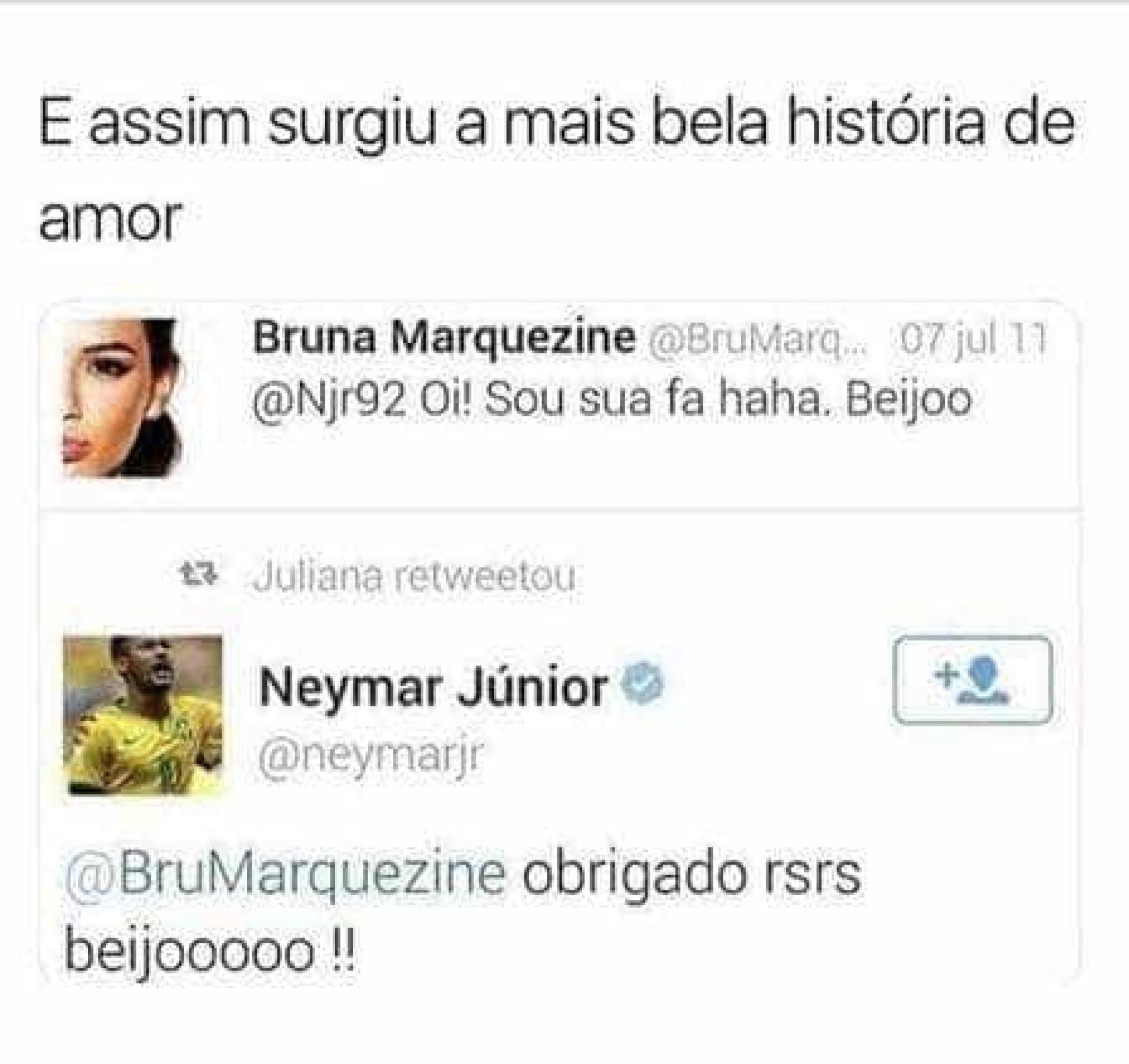 Fãs relembram 1ª mensagem de Marquezine para Neymar: 'Sou sua fã'