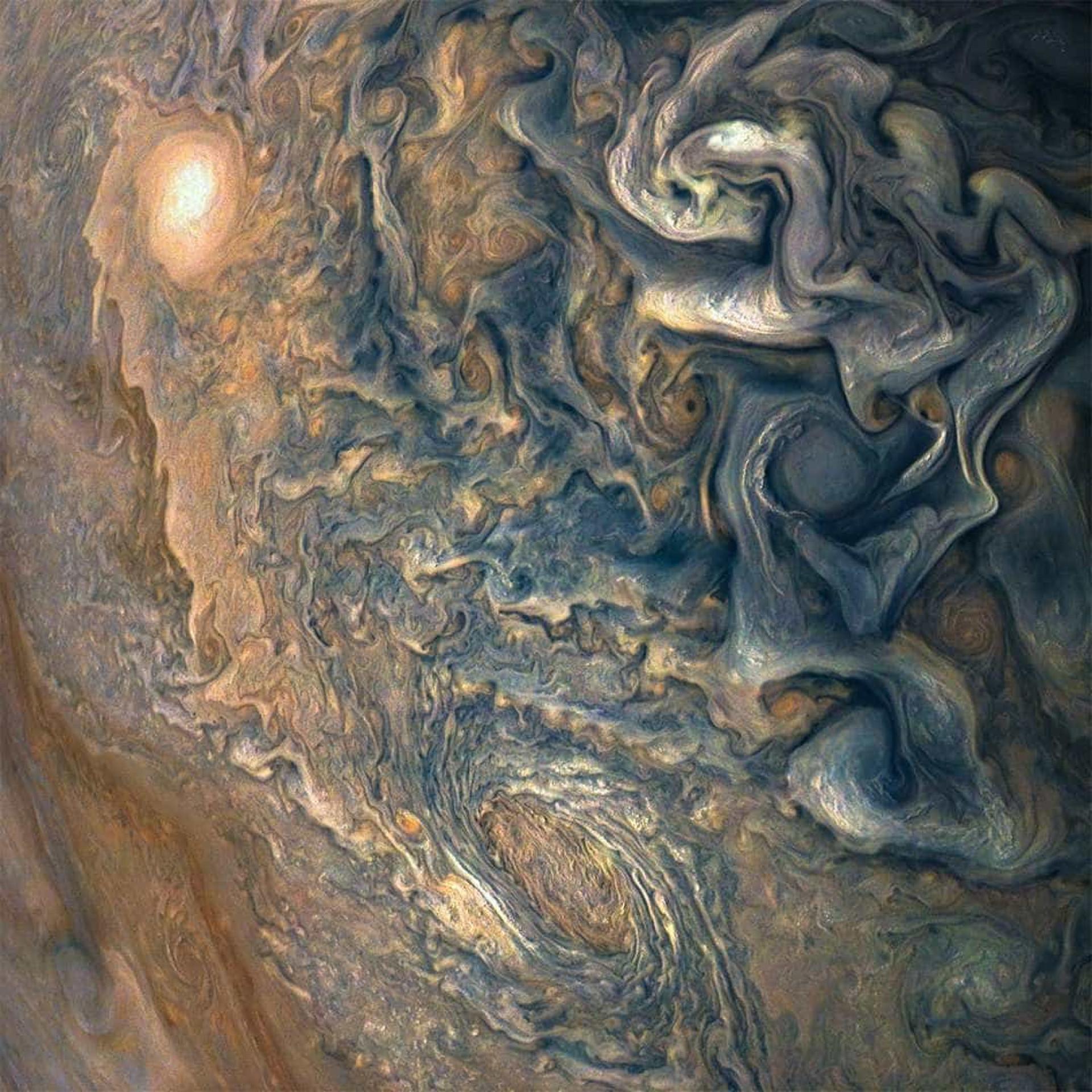 A beleza de Júpiter captada pela sonda Juno, da NASA