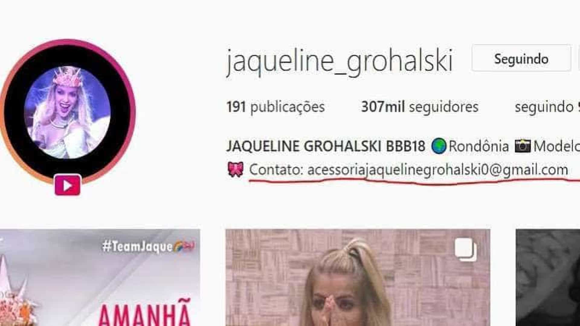 Eliminada do BBB18, Jaqueline vira piada por erro de português
