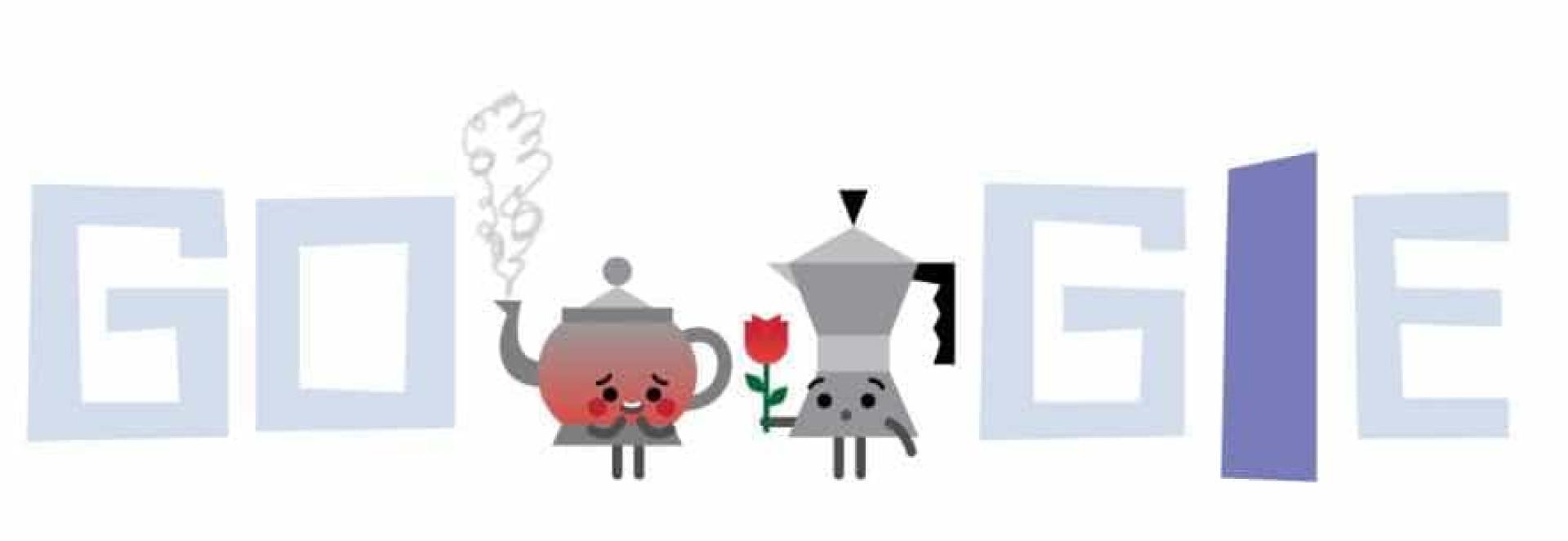 Relembre Doodles apaixonantes de Dia dos Namorados