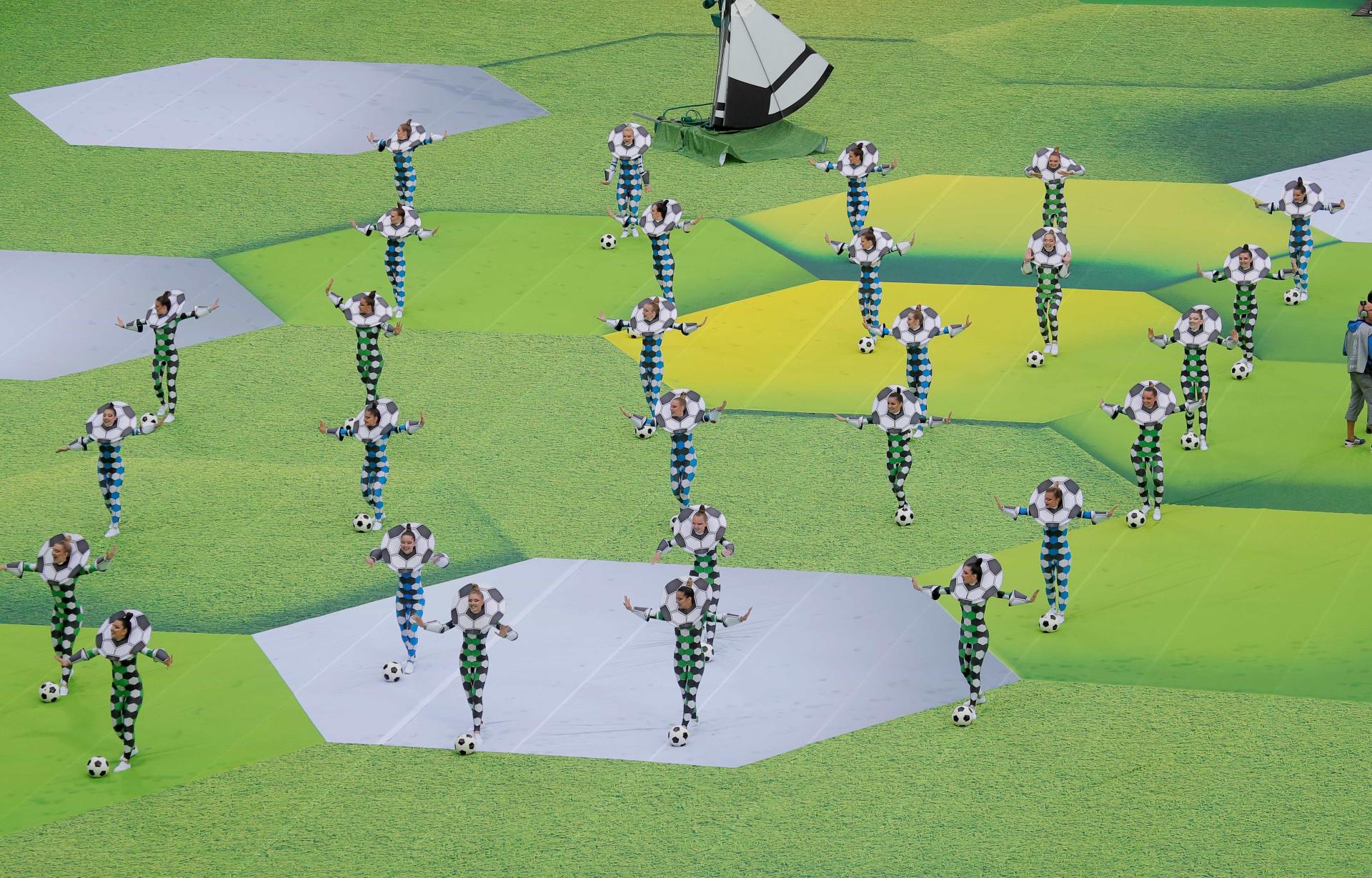 Veja as melhores imagens da abertura da Copa do Mundo da Rússia