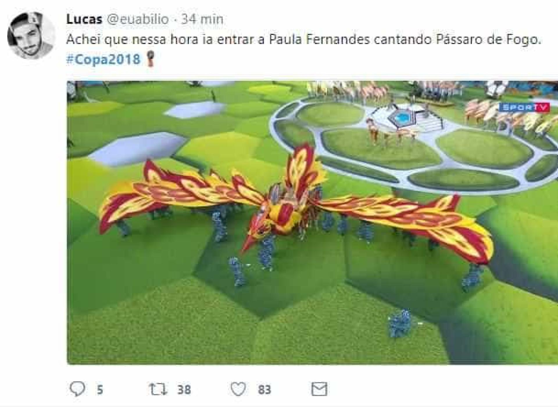 Abertura da Copa do Mundo 2018 rende memes na web; confira