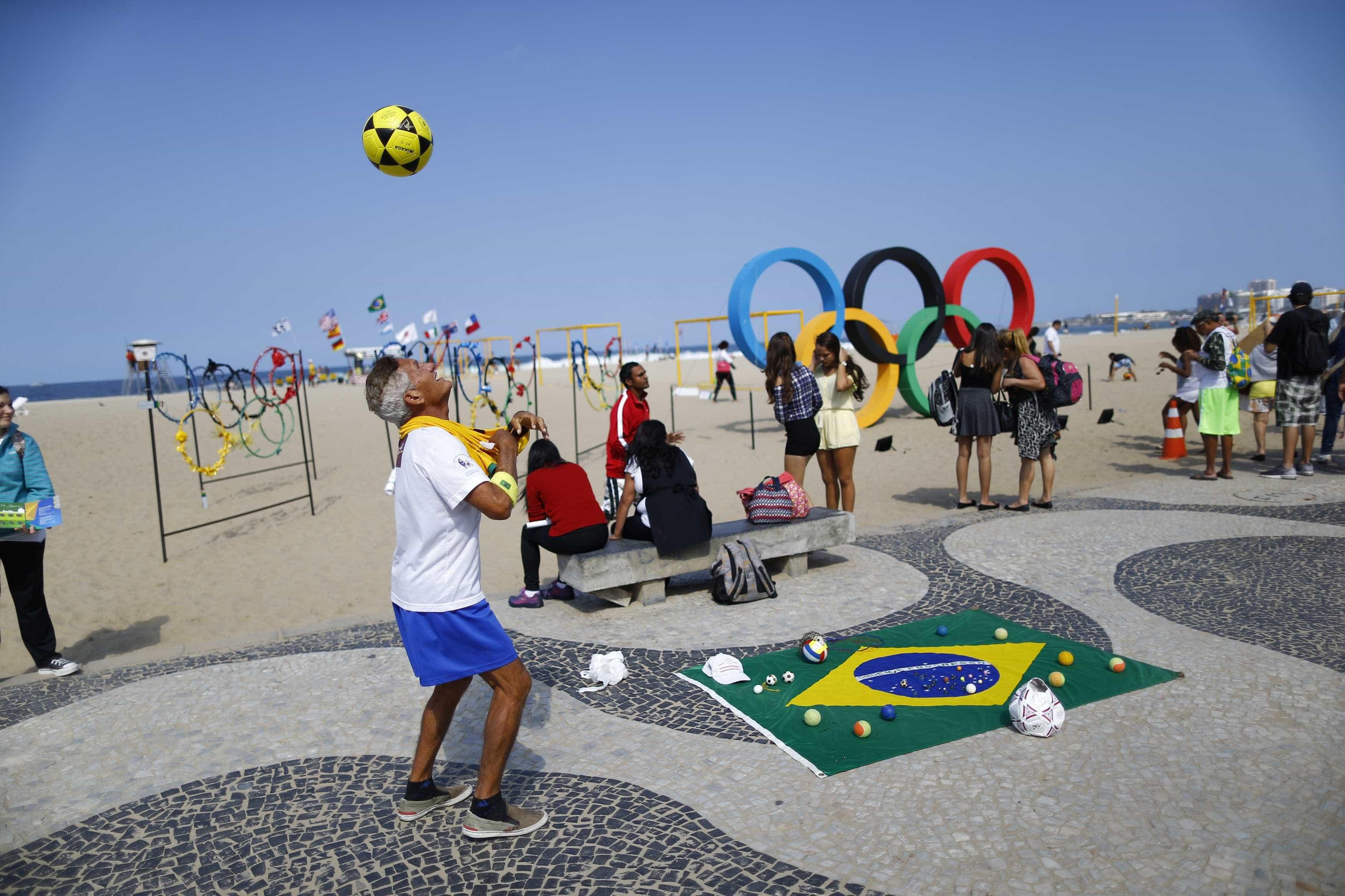 Rio: Clima olímpico toma conta da cidade