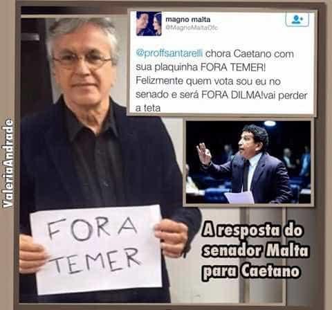 Caetano Veloso pede 'Fora Temer' e leva bronca de senador