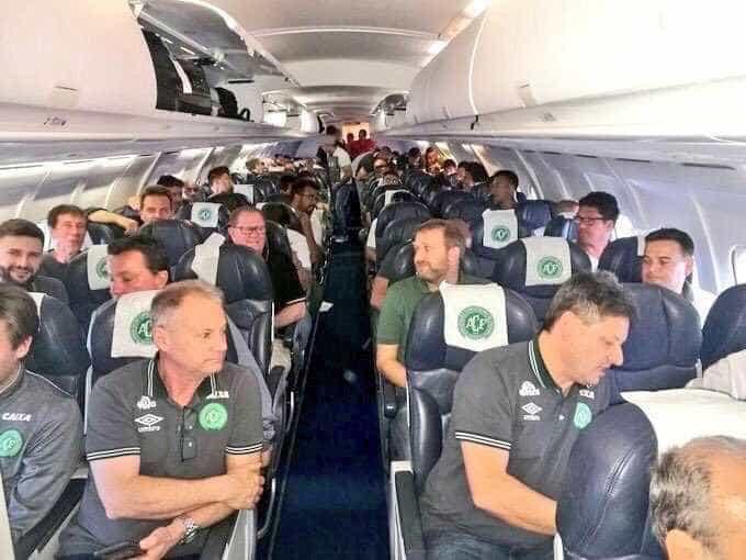 Avião com time do Chapecoense sofre  acidente na Colômbia