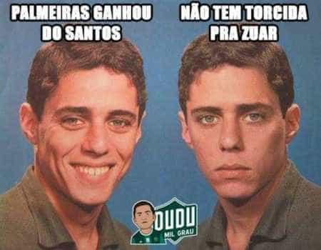 Derrota do Santos para o Palmeiras vira piada na web