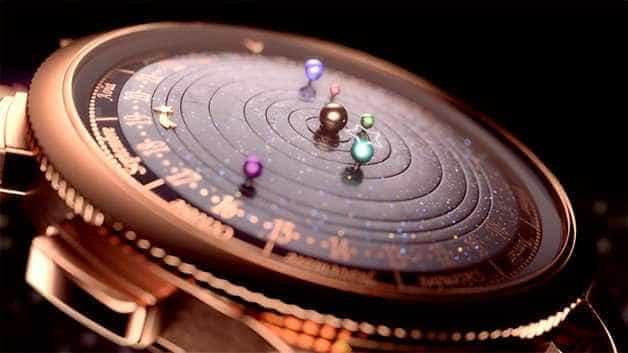 Relógio simula rotação de planetas ao redor do Sol em tempo real
